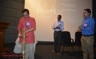 MP Richard Hay lighting the lamp and inaugurating the function at Technopark.
